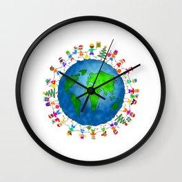 Christmas World Kids Wall Clock