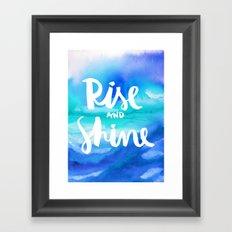 Rise & Shine [Collaboration with Jacqueline Maldonado] Framed Art Print