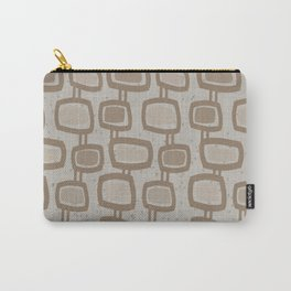 Dangling Rectangles in Brown Carry-All Pouch