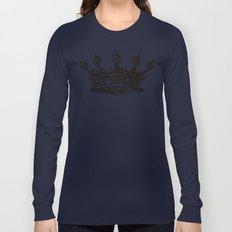 Royal Crown   Black and White Long Sleeve T-shirt