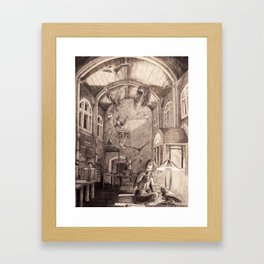 Aviary Library Framed Art Print