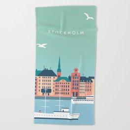 Stockholm Beach Towel