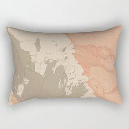 Vintage Lake Winnipeg Geological Map (1899) Rectangular Pillow
