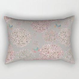 Hand painted Alliums and butterflies Rectangular Pillow
