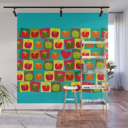 Apple and Heart Wall Mural
