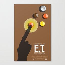 E.T. Movie Poster Canvas Print