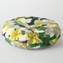 Plumeria Flowers Floor Pillow