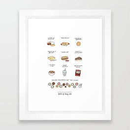 Foods of 30 Rock Framed Art Print