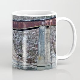 Winter Caddo River Tressle Coffee Mug