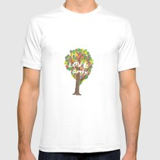 love only Mens Fitted Tee White MEDIUM