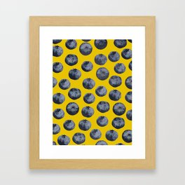 Blueberry pattern Framed Art Print
