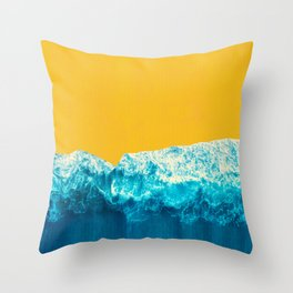 Yellow Tide Throw Pillow