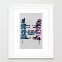 ice cream Framed Art Prints featuring Ice Cream by DIVIDUS