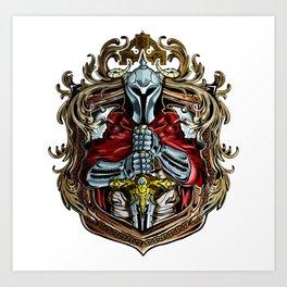 Crest of Knight in shining armor Art Print