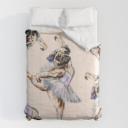 Pug Ballerina in Dog Ballet | Swan Lake  Comforters