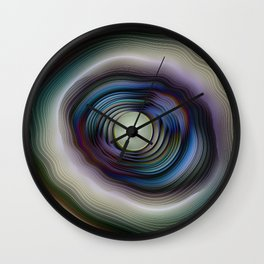 Agate and Pearl - Fractal Fantasy Wall Clock