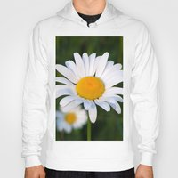 daisies Hoodies featuring Daisies by Rose Etiennette
