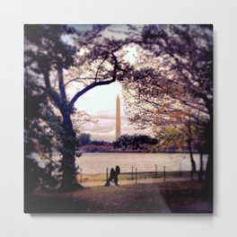 Monument Kisses Metal Print