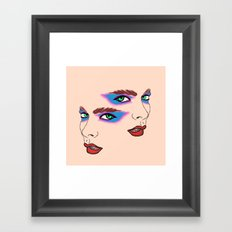 Two Sides Framed Art Print