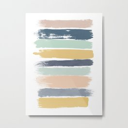 Pastel Stripes Metal Print
