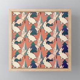 Bunnies and Trees 1 Framed Mini Art Print