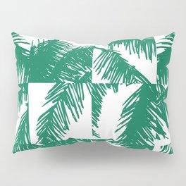 Palm Leaf Pattern Green Pillow Sham