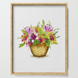 Flower Basket Serving Tray