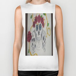 The Skull Stares Into Your Soul. Biker Tank