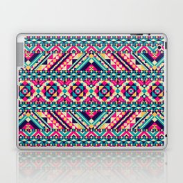 Pink, Teal, and Yellow Aztec Geometric Laptop & iPad Skin