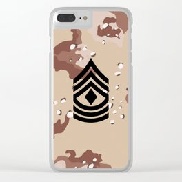 1st Sergeant (Desert Camo) Clear iPhone Case