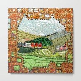 Landscape through the keyhole Metal Print