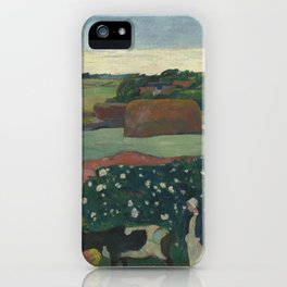 Paul Gauguin - Haystacks in Brittany iPhone Case
