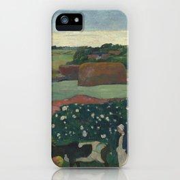 Paul Gauguin - Haystacks in Brittany iPhone Case