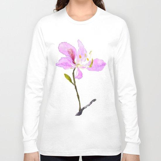 purple Buahinia Long Sleeve T-shirt