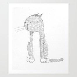 Catmando Art Print
