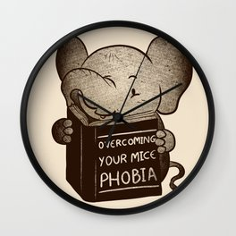 Elephant Overcoming Your Mice Phobia Wall Clock