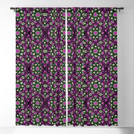 Pink Flower Mandala Blackout Curtain