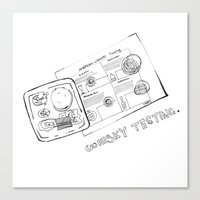 whisky Canvas Prints featuring Whisky Testing  by mimistyle