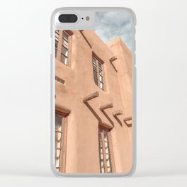 Santa Fe New Mexico Adobe Building Clear iPhone Case