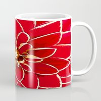 dahlia Mugs featuring Dahlia by Saundra Myles