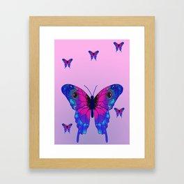 Butterfly Phone Pouch Design Purple Framed Art Print