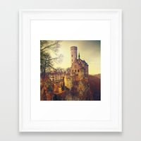 lichtenstein Framed Art Prints featuring Lichtenstein castle by Renata Arpasova