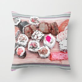 Sushi board II Throw Pillow