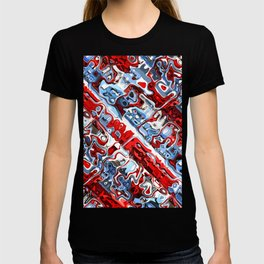Red White And Blue Abstract T-shirt