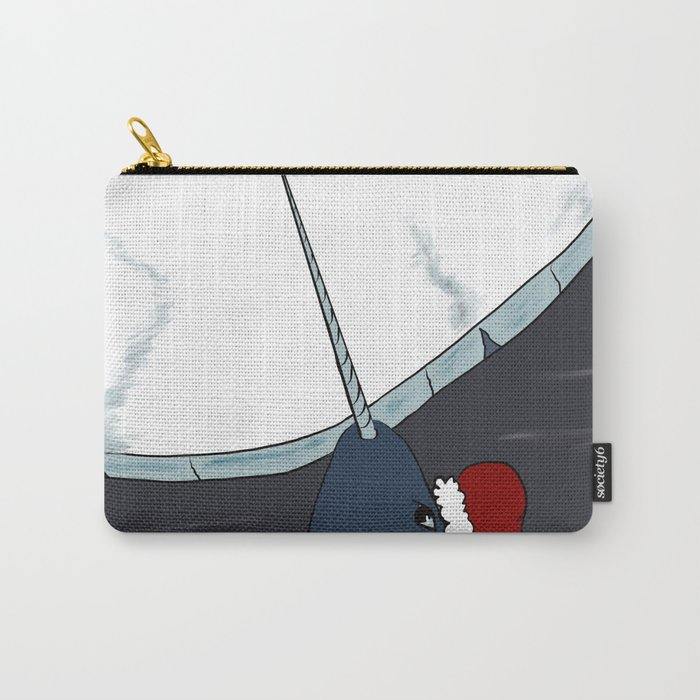 A Narwhal For Christmas Carry-All Pouch