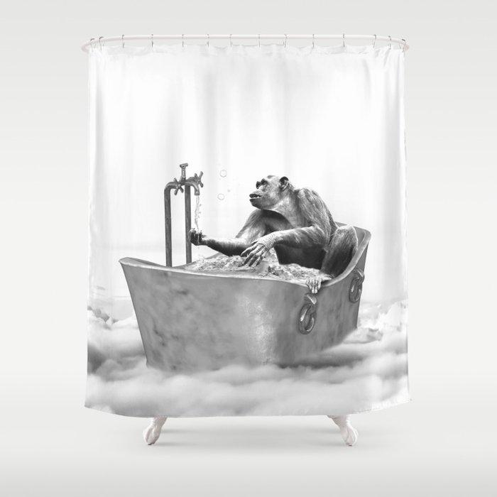 CHIMPANZEE BATH Shower Curtain