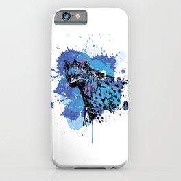 Ink Splash Hyena iPhone Case