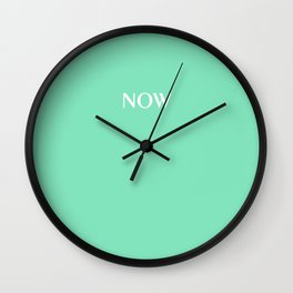 Now CARNIVAL GLASS soft pastel solid color Wall Clock