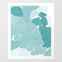 Aerin - abstract minimal painting decor for dorm college office gender neutral cool colors Art Print