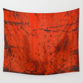 Red Roof Hatch Wall Tapestry